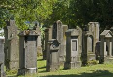Jewish graveyard in sunny ambiance Stock Photo