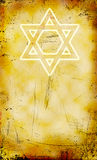 Jewish grunge background with David star Stock Photography