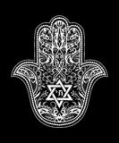 Jewish hamsa tattoo Stock Photo