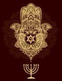 Jewish hamsa tattoo Royalty Free Stock Image