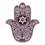 Jewish hamsa tattoo Stock Photography