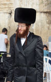 Jewish hasidic. JERUSALEM ISRAEL 26 10 16: Jewish hasidic pray a the Western Wall, Wailing Wall the Place of Weeping is an ancient limestone wall in the Old City royalty free stock image