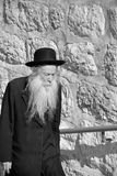 Jewish hasidic. JERUSALEM ISRAEL 26 10 16: Jewish hasidic pray a the Western Wall, Wailing Wall the Place of Weeping is an ancient limestone wall in the Old City royalty free stock photo