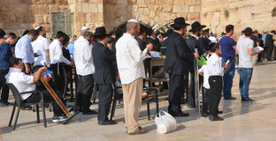 Jewish hasidic. JERUSALEM ISRAEL 26 10 16: Jewish hasidic pray a the Western Wall, Wailing Wall the Place of Weeping is an ancient limestone wall in the Old City stock images