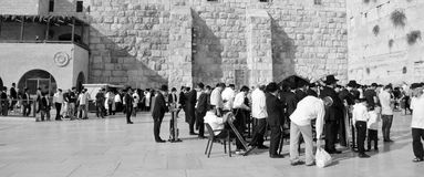 Jewish hasidic. JERUSALEM ISRAEL 26 10 16: Jewish hasidic pray a the Western Wall, Wailing Wall the Place of Weeping is an ancient limestone wall in the Old City royalty free stock images