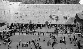 Jewish hasidic. JERUSALEM ISRAEL 26 10 16: Jewish hasidic pray at the Western Wall, Wailing Wall the Place of Weeping is an ancient limestone wall in the Old royalty free stock photos