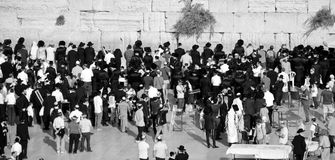 Jewish hasidic. JERUSALEM ISRAEL 26 10 16: Jewish hasidic pray at the Western Wall, Wailing Wall the Place of Weeping is an ancient limestone wall in the Old royalty free stock image