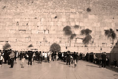 Jewish hasidic pray. JERUSALEM ISRAEL 26 10 16: Jewish hasidic pray at the Western Wall, Wailing Wall the Place of Weeping is an ancient limestone wall in the stock images