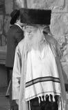 Jewish hasidic pray. JERUSALEM ISRAEL 26 10 16: Jewish hasidic pray at the Western Wall, Wailing Wall the Place of Weeping is an ancient limestone wall in the royalty free stock photos