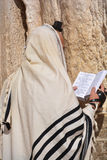 Jewish hasidic pray a the Western Wall. JERUSALEM ISRAEL 26 10 16: Jewish hasidic pray a the Western Wall, Wailing Wall the Place of Weeping is an ancient stock images