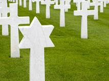 Jewish headstone in an American military cemetery Royalty Free Stock Image