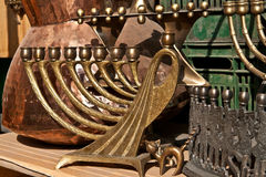 The Jewish holiday candlesticks background. Royalty Free Stock Photography