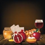 Jewish holiday foods rustic background. Jewish holiday foods rustic background Stock Photography