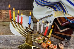 Hanukkah, the Jewish Festival of Lights. Jewish holiday hannukah , the Jewish Festival of Lights Royalty Free Stock Photo