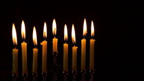 Jewish holiday hannukah with menorah traditional stock video footage