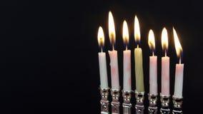 Jewish holiday hannukah symbols - menorah,. Hanukah candles celebrating the Jewish holiday Hanukkah celebration stock video