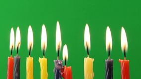 Jewish holiday Hanukkah background on greenscreen religion