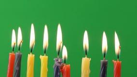 Jewish holiday Hanukkah background on greenscreen religion stock footage
