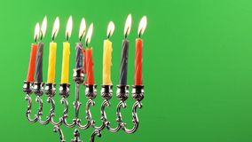 Jewish holiday Hanukkah background on greenscreen religion stock footage