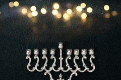 Jewish holiday Hanukkah background with menorah Royalty Free Stock Image