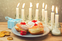 Jewish holiday Hanukkah celebration Royalty Free Stock Photography