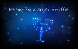 Jewish holiday Hanukkah Greeting Card Stock Photo