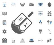 Jewish Holiday Hanukkah icons set. Vector illustration. Set Royalty Free Stock Image