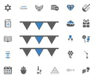 Jewish Holiday Hanukkah icons set. Vector illustration. Set Royalty Free Stock Photos