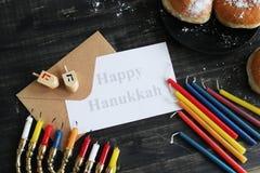 Hanukkah. Jewish holiday Hanukkah and its famous nine-branched menorah Royalty Free Stock Image