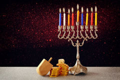 Jewish holiday Hanukkah with menorah. Image of jewish holiday Hanukkah with menorah & x28;traditional Candelabra& x29