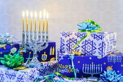 Free Jewish Holiday Hanukkah Still Life Composed Of Elements The Chanukah Festival Royalty Free Stock Images - 153069399