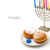 Jewish holiday Hanukkah symbols Stock Images