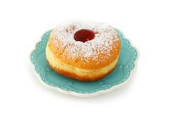 Jewish holiday Hanukkah traditional doughnut isolated on white.  Royalty Free Stock Photo
