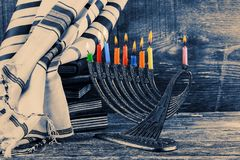 Jewish holiday, Holiday symbol Hanukkah, the Jewish Festival of Lights Royalty Free Stock Photo