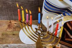 Hanukkah, the Jewish Festival of Lights. Jewish holiday, Holiday symbol Hanukkah, the Jewish Festival of Lights Stock Photos