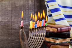 Hanukkah, the Jewish Festival of Lights. Jewish holiday, Holiday symbol Hanukkah, the Jewish Festival of Lights Royalty Free Stock Photos