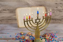 Hanukkah, the Jewish Festival of Lights. Jewish holiday, Holiday symbol Hanukkah, the Jewish Festival of Lights Royalty Free Stock Images