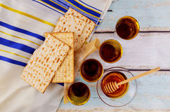 Jewish holiday matzoh jewish passover bread torah Royalty Free Stock Photography