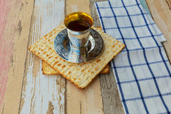 Jewish holiday matzoh passover bread torah Stock Photos