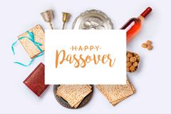 Jewish holiday Passover banner design Royalty Free Stock Image