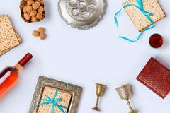 Jewish holiday Passover frame composition Royalty Free Stock Photography