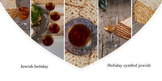 Jewish holiday passover jewish matzoh bread holiday matzoth celebration Collage from different pictures. Jewish holiday passover jewish matzoh bread holiday Stock Image