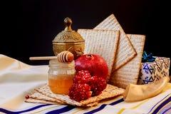 Jewish holiday passover  matzoh rosh hashanah Stock Images