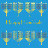 Jewish holiday pattern hanukkah . Royalty Free Stock Image