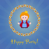 Jewish holiday of Purim. Greeting card with Esther Royalty Free Stock Photo