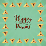Jewish holiday of Purim, greeting card Royalty Free Stock Photos