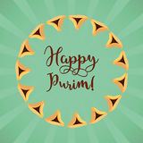 Jewish holiday of Purim, greeting card Stock Images