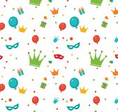 Jewish holiday Purim pattern. Stock Image