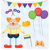 Jewish holiday Purim set of traditional objects. Royalty Free Stock Image
