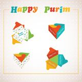 Jewish holiday Purim set. Vector illustration. Royalty Free Stock Photos